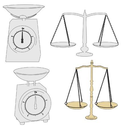 cartoon image of kitchen scales photo