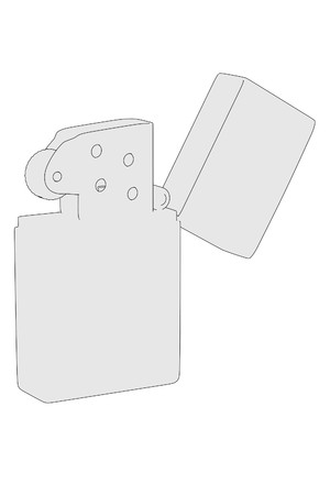 cartoon image of lighter (fire) photo