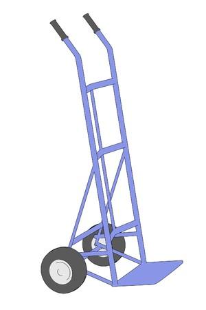 sack truck: cartoon image of sack truck