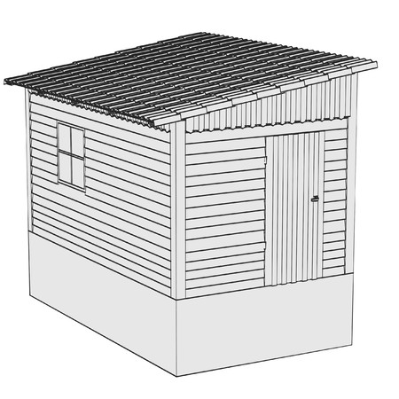 cartoon image of garden shack Stock Photo