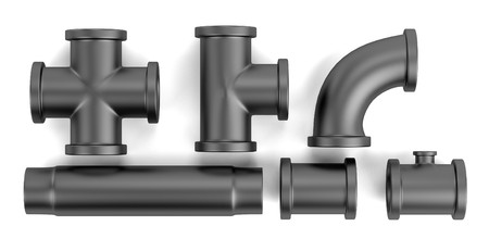 plummer: realistic 3d render of pipes