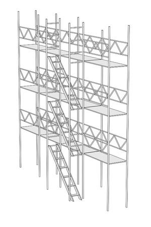 建築用足場の漫画画像