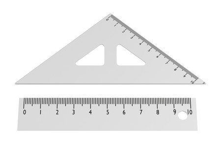 realistic 3d render of ruler
