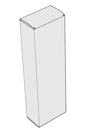 pill box: cartoon image of pill box Stock Photo