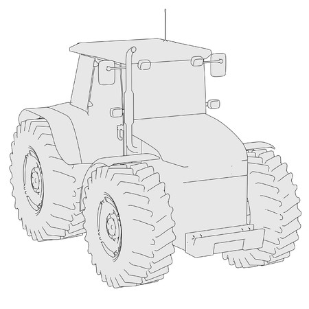 cartoon image of tractor vehicle photo
