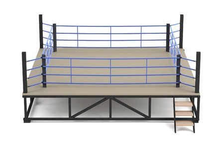 boxing ring: realistic 3d render of boxing ring Stock Photo