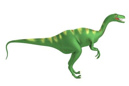 dinosaurus: realistic 3d render of velociraptor Stock Photo