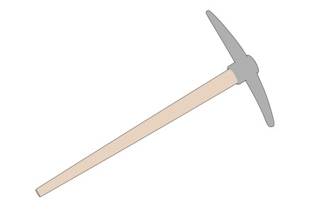 pickaxe: cartoon image of pickaxe tool