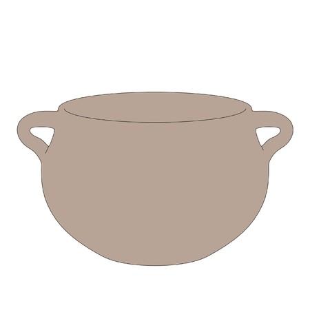 primitive tools: cartoon image of prehistoric vase
