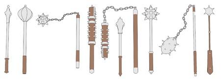 mace: cartoon image of mace weapons