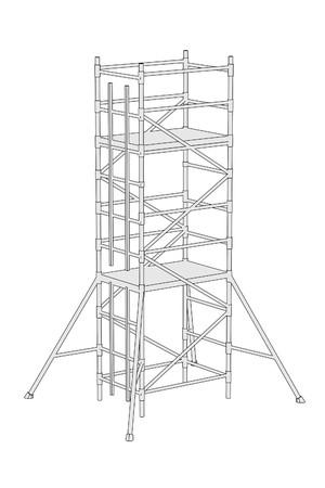 建築用足場の漫画画像 写真素材 - 26189640