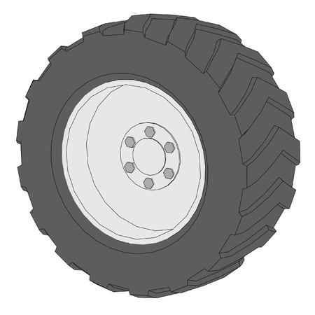 car tire: cartoon image of car tire