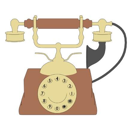 old telephone: cartoon image of old telephone Stock Photo