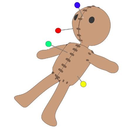 figourine: cartoon image of voodoo doll