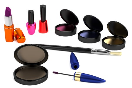 realistic 3d model of cosmetics photo