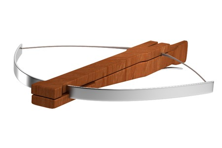 crossbow: realistic 3d render of crossbow