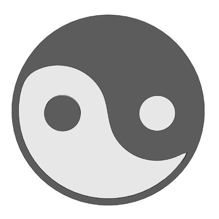 tao: cartoon image of tao sign Stock Photo