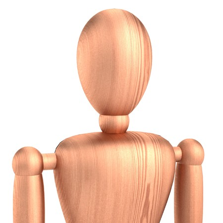 figourine: realistic 3d render of mannequin