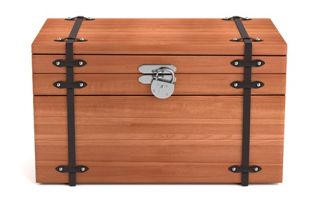 coffer: realistic 3d render of chest
