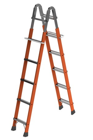 constuction: realistic 3d render of ladder