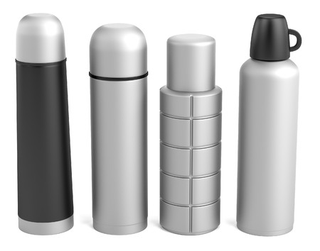 realistic 3d render of thermobottles