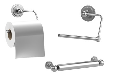 realistic 3d render of toilet holder Stock Photo