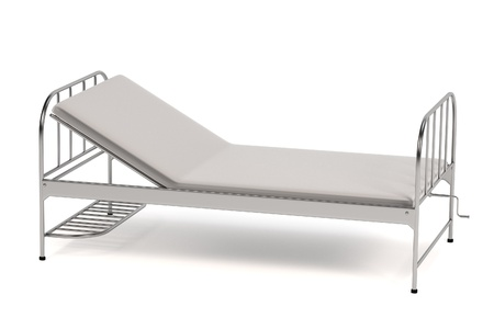 pacient: realistic 3d render of hospital bed