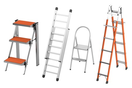 constuction: realistic 3d render of ladders