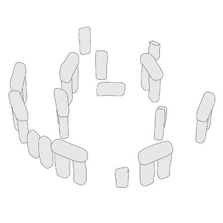 stonehenge: cartoon image of stonehenge structure