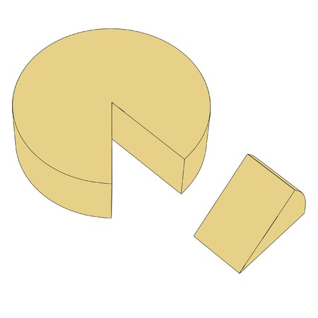 goat cheese: cartoon image of 2d cheese Stock Photo