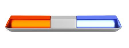 warning lights: realistic 3d render of warning lights Stock Photo