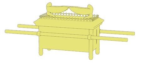 cartoon image of ark of covenant Stock Photo