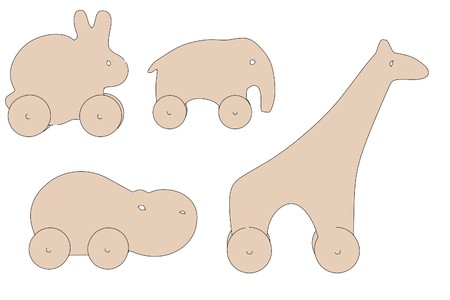 cartoon image of wooden animals photo