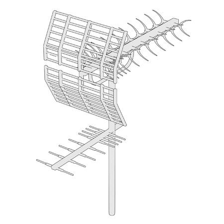 reciever: cartoon image of tv antenne