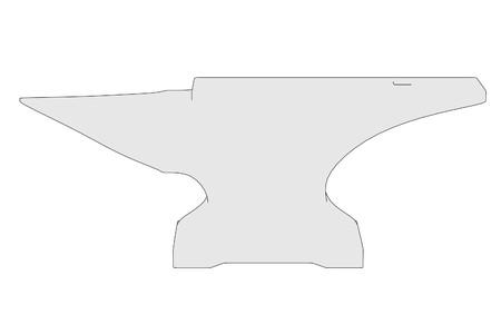 anvil: cartoon image of blacksmith tool - anvil