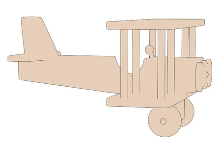 cartoon image of wooden toy photo