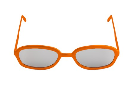 myopia: realistic 3d render of glasses