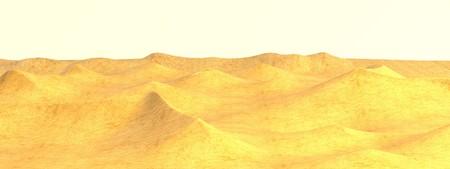 wasteland: realistic 3d render of desert