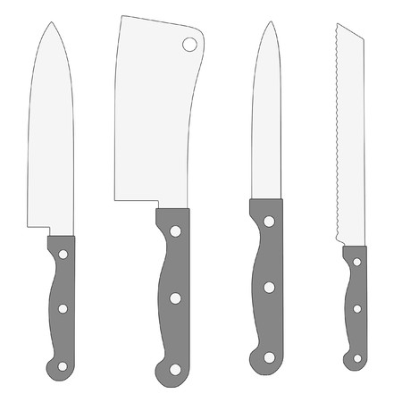 knive: cartoon image of kitchen knives