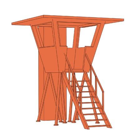 gaurd: cartoon image of lifeguard cabin