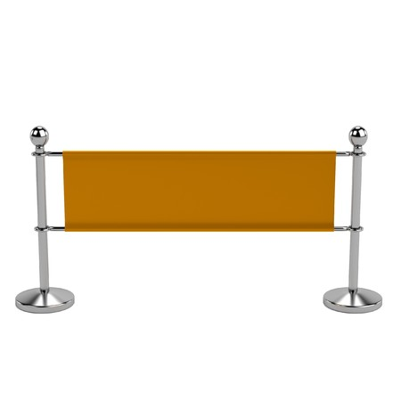 realistic 3d render of barrier photo