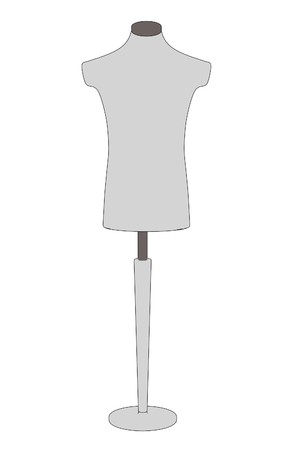 figourine: cartooon image of shop dummy