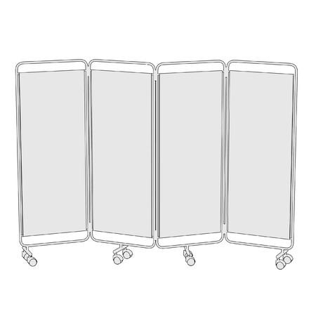 folding screens: cartoon image of folding screen