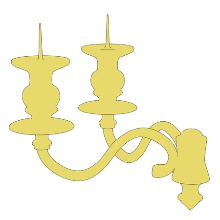 candlestick: cartoon image of old candlestick