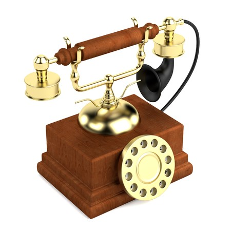 old telephone: realistic 3d render of old telephone