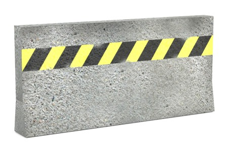 realistic 3d render of traffic barrier photo