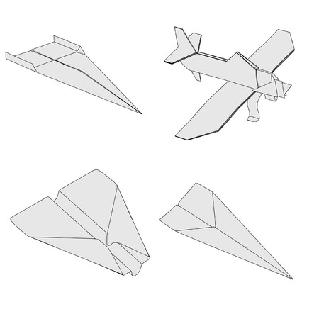 cartoon image of origami planes photo