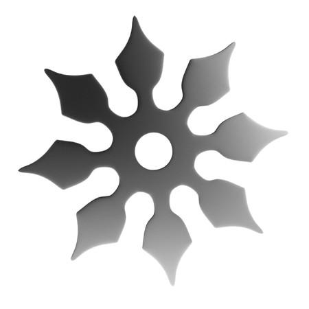 shuriken: realistic 3d render of shuriken
