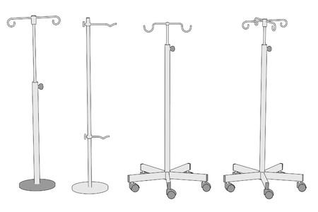 saline: cartoon image of saline stands