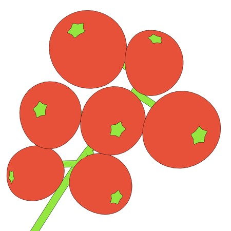 rowan: cartoon illustration of rowan berry